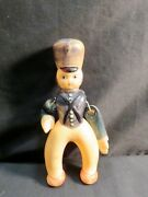 Vintage Celluloid Soldier/guard, W/moveable Arms, As Is