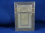 Large Victorian Solid Silver Filigree Calling Card Case
