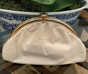 Vintage Genuine Bellido Leather Purse By Susan Gail Made In Spain Ivory White