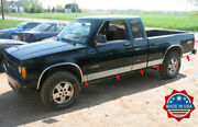 1982-1993 Chevy S-10 Pickup Extended Cab Short Bed Rocker Panel Trim
