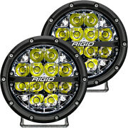 Rigid 360 Series 6in Round White Led Spot Light With Alloy Housing 36200