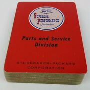 C.1960 Bicycle 808 Playing Cards Studebaker-packard Parts And Service Deck Vintage