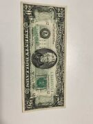 Error 1981 A 20 Federal Reserve Note Wet Ink Full Back To Front Transfer ,rare!