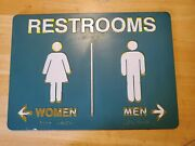 Vintage 90and039s Frischand039s Big Boy Women And Men Restrooms Directional Sign W/ Braille