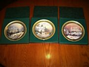Thomas Kinkade First 3 Christmas Collector Plates Boxed With Certificates