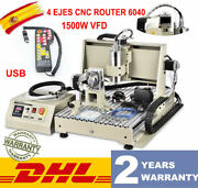 1.5kw Usb 4 Axis Cnc 6040z Router Engraver Metal Drill Milling Machine+handwheel