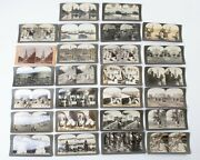 26 Antique Keystone Stereo View Cards Foreign Travel Egypt Russia Cuba Syria +