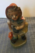 Antique Figurine Little Girl With Basket Fire Hydrant