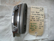 Mercedes Benz Ponton W180 W128 Adenauer Left Righ License Plate Light And Base