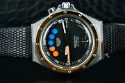 Heuer Regatta 134.505 Two Tone Steel Automatic Menand039s 40mm Watch Vintage