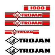 Trojan Wheel Loader 1900 Decal Set With O And K Decals