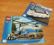 Lot Of 2 Genuine Lego 7288 And 4439 Police Building Blocks Vehicle Manuals Only