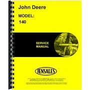 Fits John Deere 140 Lawn And Garden Tractor Service Manual