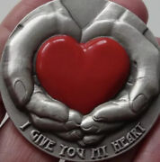 Emotions I Give You My Heart Niue 2016 5 - 3 Oz Silver Coin With Max Relief