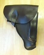 1980and039s Bulgarian Leather Holster For Makarov Walther Ppk Mauser Hsc Cz70 Feg Nos