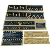 Complete Decal Set Fits Ford 4000 Tractor 4 Cyl 1962 - 1964 Select O Speed
