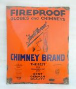 Porcelain Enamel Fireproof Globs And Chimneys Lamps And Lanterns Sign Board Germany