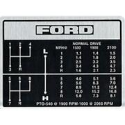 Fits Ford Tractor Shift Pattern Decal 8-speed For 5000 5600 6600 6700 7000 7600