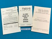M1903 03 M1903a3 03a3 Springfield Rifle Army Manual Lot Of 3 Fm 23-10 Tm 9-1270