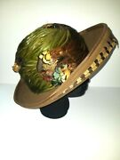 Vintage 1960s Hat By Mr. John Brown Colorful Feathers Ostrich Quail