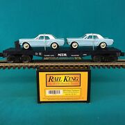 Mth Railking Flat Car With Ertl And03964 Mustangs 30-7617