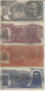 Bank Of Israel 1969 3rd Series Banknotes,4 Rectangle Silver Medals 110x55mm