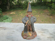 Tom Clark Signed 1991 56 5151 Forest Gnome 13.5 Decorative Collectible Statue