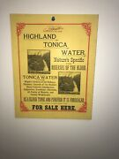 Antique Sign Highland Tonica Water Manchester Ct Patent Medicine Case Brothers