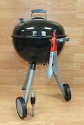 Genuine Weber Plastic Toy Barbecue Grill With Wheels And Tongs Read