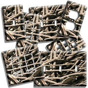 Rustic Aged Wood Sticks And Twigs Camo Light Switch Plates Outlet Urban Room Decor