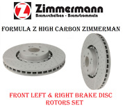 Front Brake Slotted Xdrilled Disc Rotors Set X2 For Mercedes Amggt,c63,cls63,e63