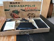 Vintage Marx Indianapolis Classic Slot Car Track Complete W/ Box And Cars