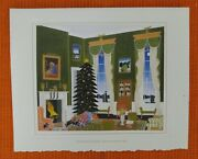 Card-1 1996 The White House The Green Room Christmas Card With Newspaper Clip
