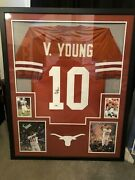 Framed Vince Young Autographed Signed Texas Longhorns Jersey Psa