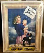 Original Wwii For Their Future Buy War Bonds Woman And Child Vintage 1943 Poster