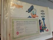 Sealed 1964 Advertising Walt Disney Rca Donald Duck And Mickey Mouse Placemat Set