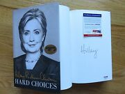 First Lady Hillary Clinton Signed Hard Choices 1st Edition 2014 Book Psa Ab98495