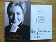 First Lady Hillary Clinton Signed Living History Book Full Signature Chelsea Psa