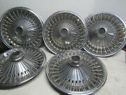 1970-1980 Barracuda Challenger Dart Valiant Charger 14 Wire Spoked Hubcaps 5