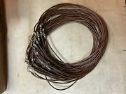 Real Leather Cords. Lot 350 Black Cords And 400 Brown Cords.18 Inches Long