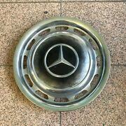 Genuine 1970-1980 Mercedes Benz 14 Wheel Cover Hub Cap W/ Mounting Clips 1