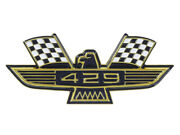 New 429 Ford Eagle Emblem Gold Plating Black-and-white Flags Galaxie Fairlane