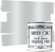 Shabby Chic Chalked Furniture Paint Metallic Finish - 1 Liter Antique Silver