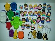 Large Lot Retro Fisher Price Little People Figures Cars Animals Htf