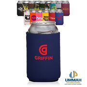 100 Personalized Neoprene Collapsible Can Coolers / Koozie With Logo Or Message