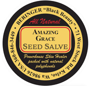 1000 Custom Printed 2 Round Salve Labels Red And Black Ink On Gold Laminated
