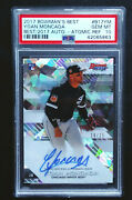 Yoan Moncada 2017 Bowmanand039s Best Atomic Refractor Auto Jersey 10 /25 Psa 10 1/1