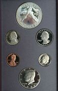 1988 Prestige 6 Coin Proof Set With Silver 1 Constitution Us Mint Box And Coa