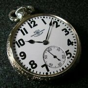 1920's Antique Vintage Ball Official Rail Road Standard Pocket Watch 21 Jewels
