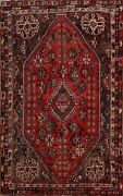 Antique Nomad Abadeh Geometric Area Rug 6x8 Handmade Traditional Oriental Carpet